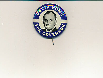 """1962 uncommon David Hume for governor 1 5/8"""" litho Maryland MD campaign button"""