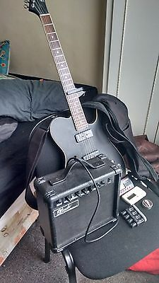 Lindo Electro-Acoustic Guitar with Amplifier, carry on case, tuner, picks + MORE