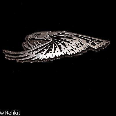 Scarce Signed Michael Kabotie Sterling Silver Overlay Hopi Eagle Brooch/Pin