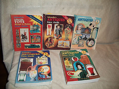 Schroeder's Antiques Price Guide Books Lot Of 5 Books