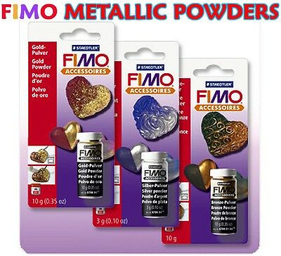 Fimo Accessories Metallic Gold / Silver / Bronze Powders