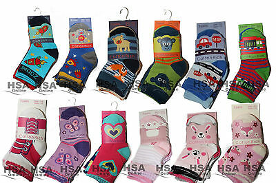 3 Pairs of Baby / Toddler Boys/Girls Novelty Cotton Rich Multipack Design Socks