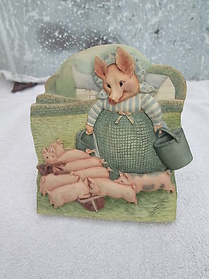 FW & co 1999 Beatrix potter plaque of Lady pig with all her piglets