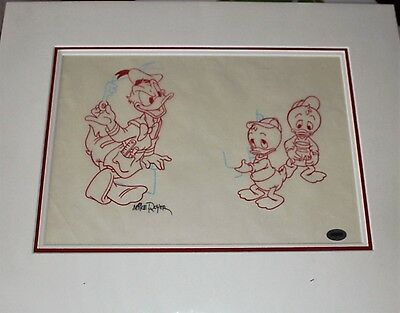Donald & Two Nephews Original Drawing by Mike Royer (41)