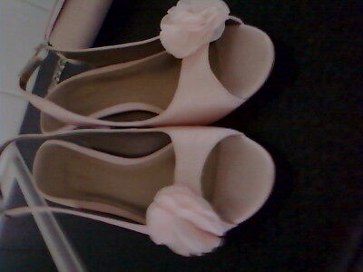 Jaques Vert Shoes size 7(40)  and matching handbag.in light pink