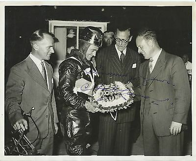 Speedway, 10 X 8 Inch Signed Photo Of Aub Lawson Receiving A Presentation