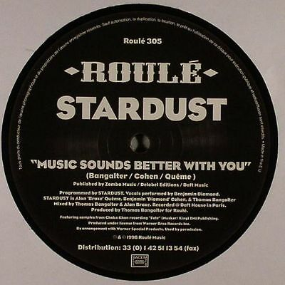 """STARDUST - Music Sounds Better With You - Vinyl (1-sided 12"""")"""