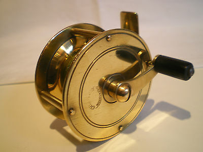 ANTIQUE BRASS FLY FISHING REEL WINCH BY S. ALLCOCK & Co REDDITCH ENGLAND
