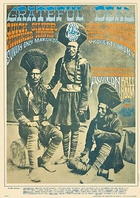 Grateful Dead POSTER  *AMAZING*  Live w/ Quick Silver Messenger Svc PSYCHEDELIC
