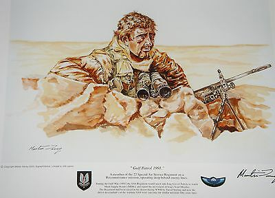 "SAS/Special Forces ""Gulf Patrol 1991"" Print"