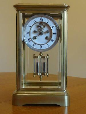 Beautiful, large antique French 4 glass striking clock - fully overhauled 10/16