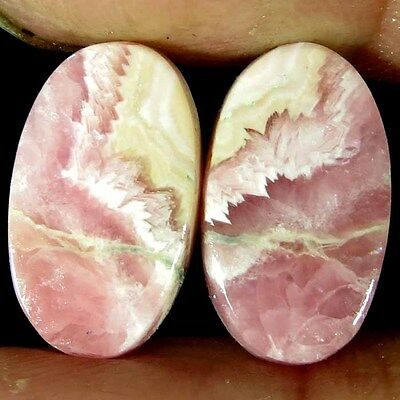 13.45Cts Natural Rhodochrosite Oval Cab Matched Pair Gemstones Elegant Designer