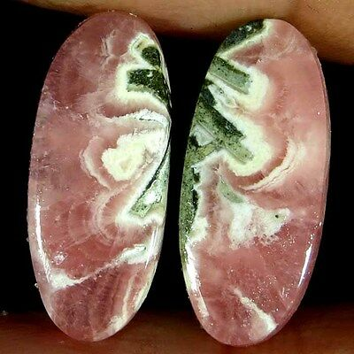 14.65Cts Natural Rhodochrosite Oval Cab Matched Pair Gemstones Elegant Designer