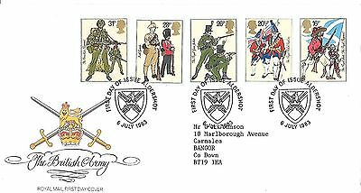 The British Army Uniforms 1983 First Day Cover