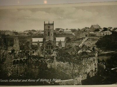 Vintage postcard of St David's Cathedral  Pembrokeshire
