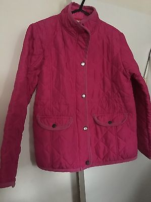 Girls Pink Jacket Age 5-6 Years Old Quilted
