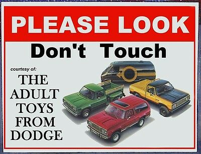 Dodge Truck Do Not Touch sign car shows, cruise nights Chrysler Plymouth