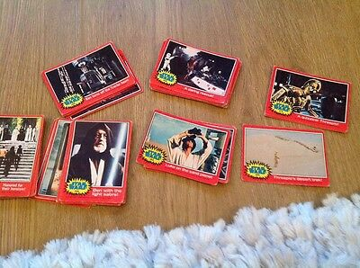 1977 Star Wars Red And Also Green Border Cards 50 Of Them