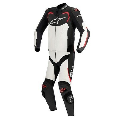 Alpinestars GP Pro 2 Piece Race Suit Black White Red Size 56