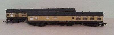 2 x Lima Brown and Cream Coaches OO Gauge