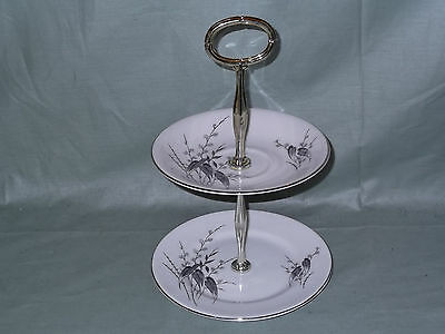 Royal Standard Giselle Bone China Small 2-Tier Biscuit Cake Plate Stand 2565