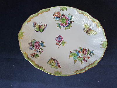1212 / VBO Herend China QUEEN VICTORIA Oval Serving Bowl