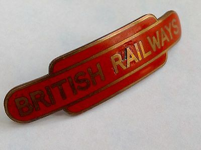 British Railway Cap Badge Tangerine Orig Vintage British Rail North East Gilt