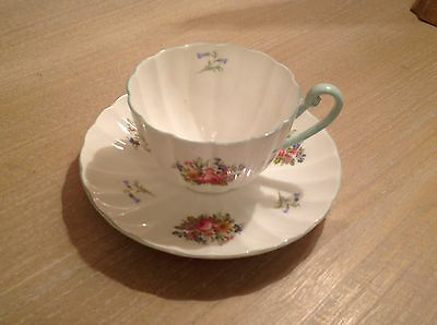 Shelley Duchess Blue Cup and Saucer