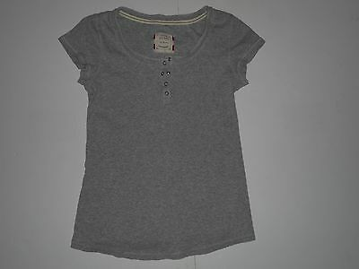 Old Navy Maternity Gray Henley Top T Shirt Size Medium M Short Sleeves Scoop