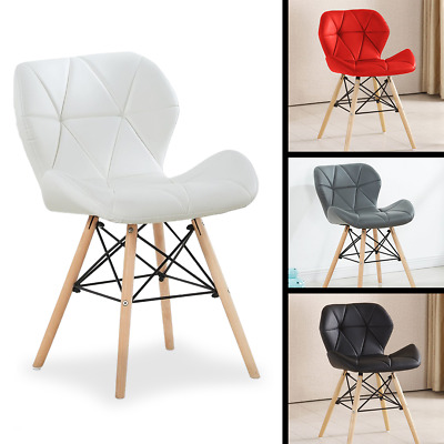 4x Eiffel DSW Chairs Retro ABS Plastic White Black Grey Red Green Blue Pink