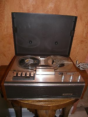 """Philips N4307 Reel to Reel Tape Recorder, fully working, """"PAT"""" tested."""