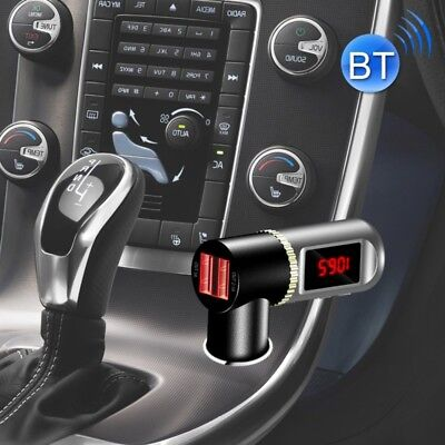 TECH Black BC08 Dual USB Car Charger Bluetooth FM Transmitter Kit, Support LCD