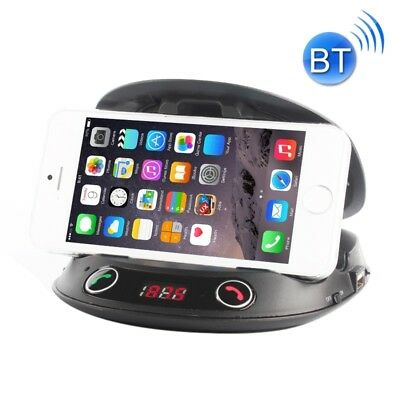 TECH Black BT8128 Car Bluetooth FM Transmitter with Holder Function & Remote Co