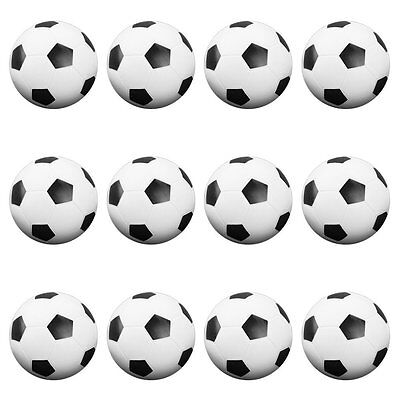 Set of 12 Table Soccer Foosballs Replacements Mini Black and White Soccer Balls