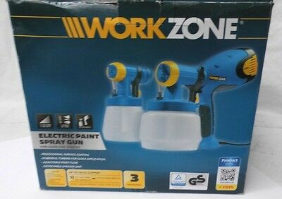 Workzone Electric Paint Spray Gun for Home and Garden. Model: 2363075. 93299