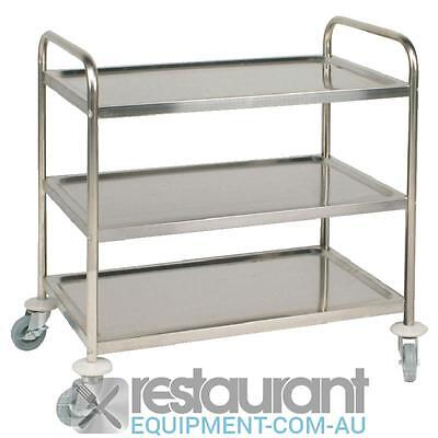 Vogue Stainless Steel 3 Tier Clearing Trolley Large Kitchenware Trolleys Clearin