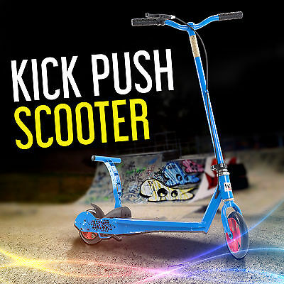 Kids Kick 'N Go Scooter Push Scooter 2 Wheel Stunt Scooters With Break System