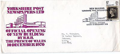 1970 Yorkshire Post Newspapers Ltd New Building Opening Fdc From Collection I12