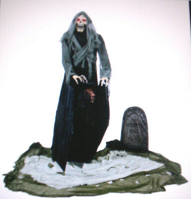 Graveyard Snatching Reaper Life Size Animated Halloween Prop Haunted House