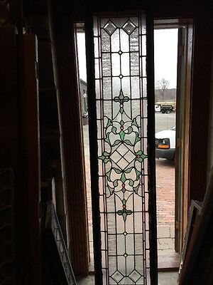 "Sg 960 Antique Transom Window 20"" X 90.5"" Jewels Beveled Center"