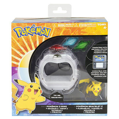 Pokemon Z Ring Pikachu Set Or Z Crystals - Sun & Moon 3DS Compatible
