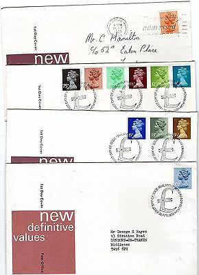 1978-80 New Definitives Fdc's From Collection C4