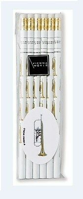 Vienna World: Pencil Set - Trumpet (Pack Of Six).