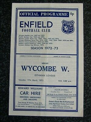 Enfield v Wycombe Wanderers 1972/73