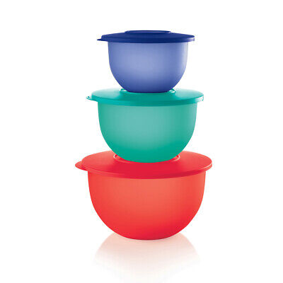 Tupperware Mixing Bowls 3-Piece Set with Red Seals - Brand New!