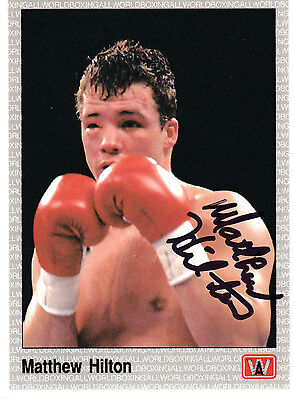 Boxer Matthew Hilton 1991 All World SIGNED CARD AUTOGRAPHED