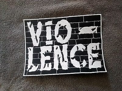 Vio-Lence,sew On White Embroidered Large Back Patch