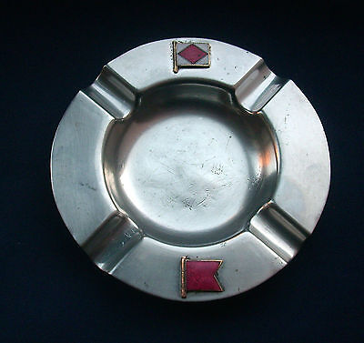 Unusual Vintage Shipping Ashtray with Message in Signal Flags C1950s