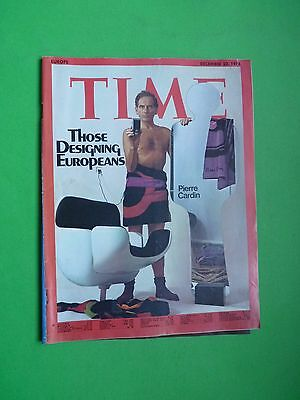 TIME magazine Europe edition 1974 December 23 Pierre Cardin The Designing