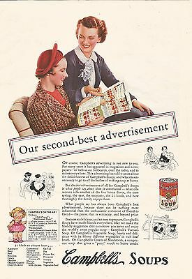 1935 Vintage Campbells Vegetable Soup Ad Second Best
